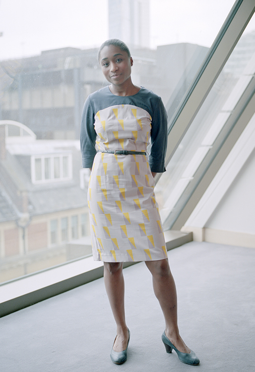 field-grey-female-uniform-printed-dress-bespoke-tailoring-hospitality-southplacehotel-danddlondon