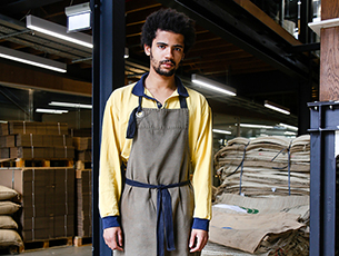 Allpress Dalston aprons designed by Field Grey, London, UK