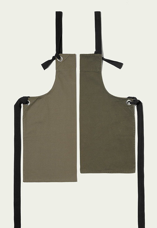 Allpress Dalston Apron Field Grey Uniform Design