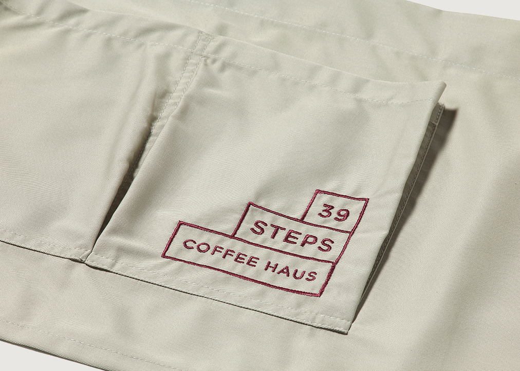 39 Steps Coffee Haus Uniform Design Field Grey