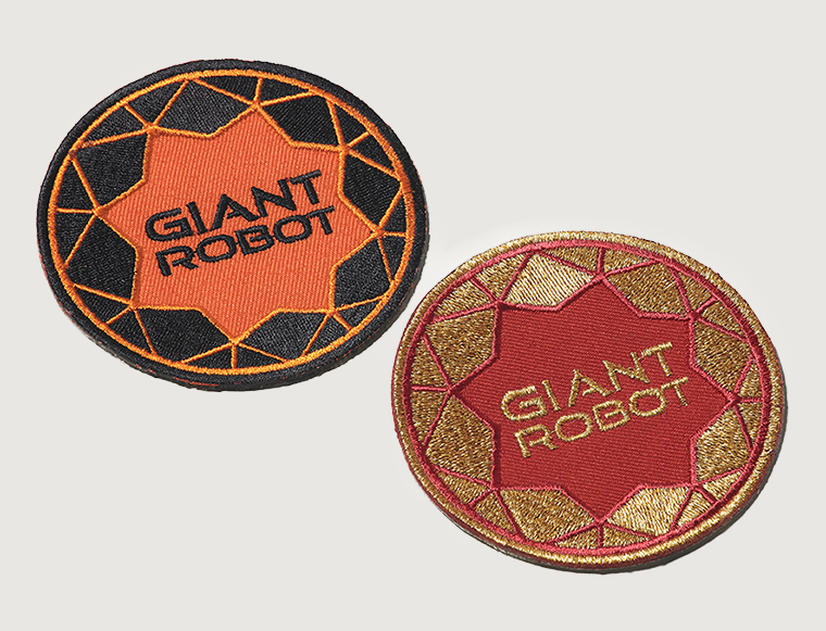 Giant Robot Patch Field Grey Uniform Design Embroidered