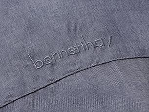 Bennett Hay Field Grey Embroidery